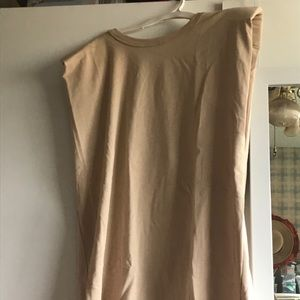 Padded shoulder tshirt dress